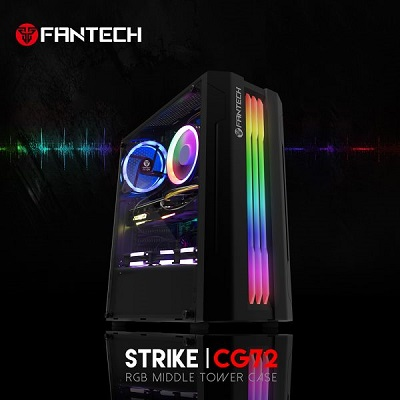 BRAND NEW FANTECH STRIKE CG72 RGB Middle Tower Case